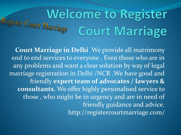 welcome to register court marriage n.