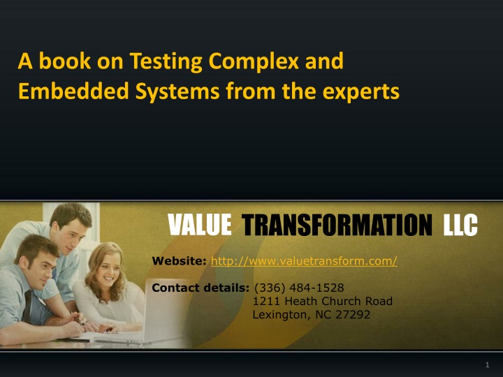a book on testing complex and embedded systems from the experts n.