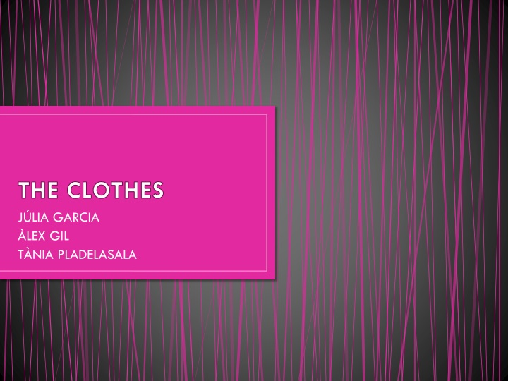 the clothes n.
