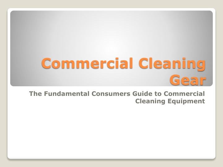 commercial cleaning gear n.