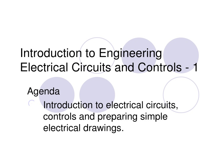 introduction to engineering electrical circuits and controls 1 n.