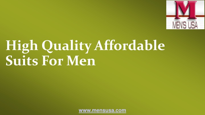high quality affordable suits for men n.