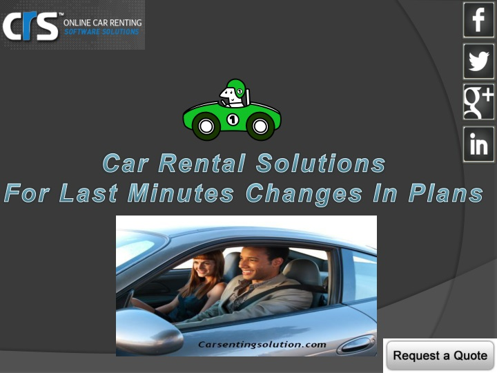 car rental solutions for last minutes changes n.
