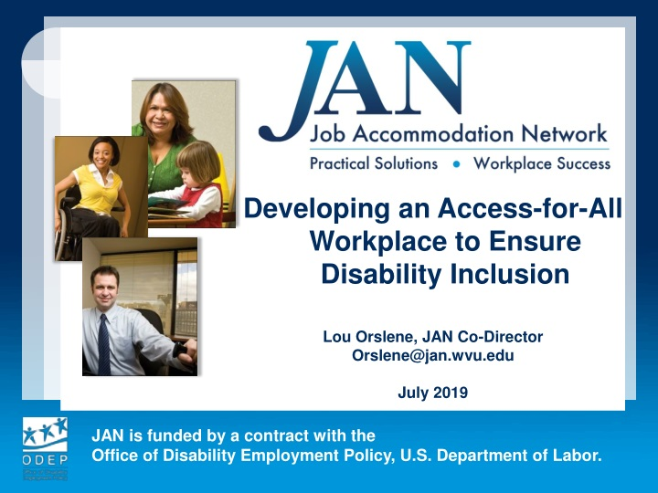 developing an access for all workplace to ensure n.