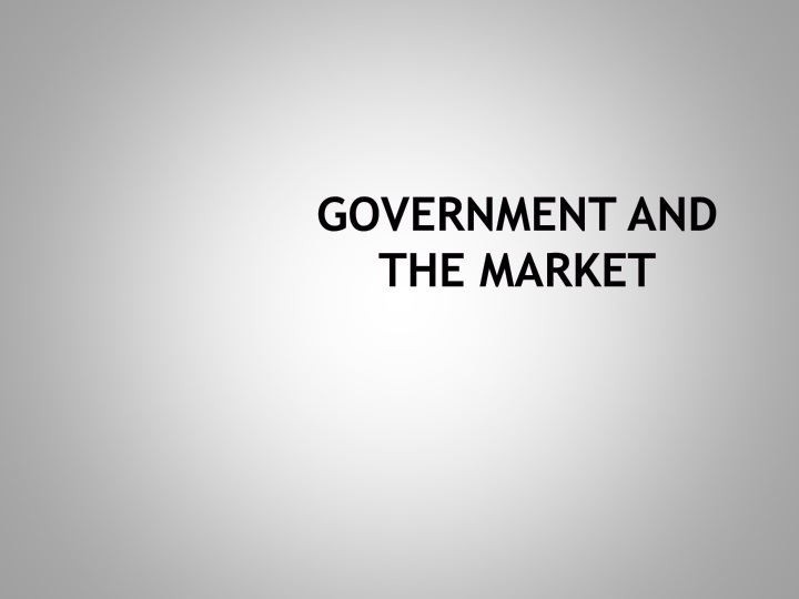 government and the market n.