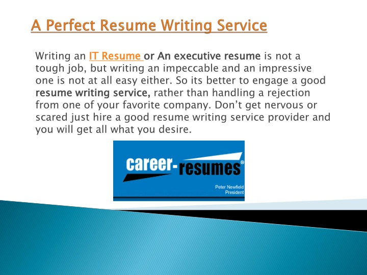 a perfect resume writing service n.