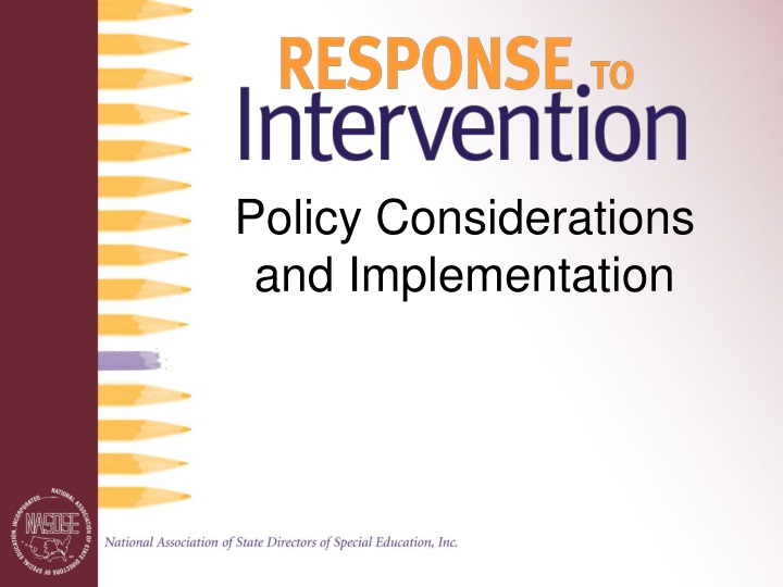 policy considerations and implementation n.