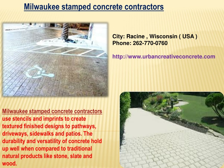 milwaukee stamped concrete contractors n.