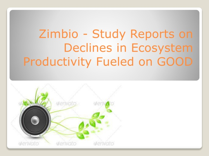 zimbio study reports on declines in ecosystem productivity fueled on good n.