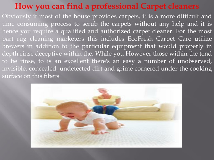 how you can find a professional carpet cleaners n.