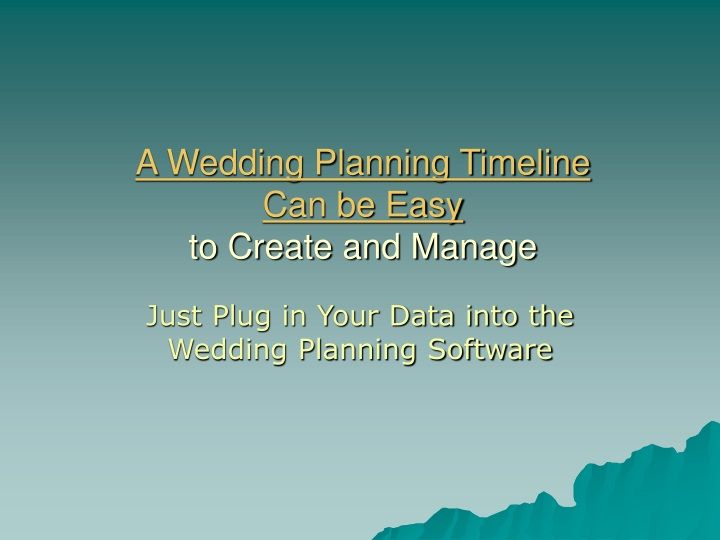 a wedding planning timeline can be easy to create and manage n.