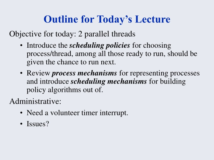 outline for today s lecture n.