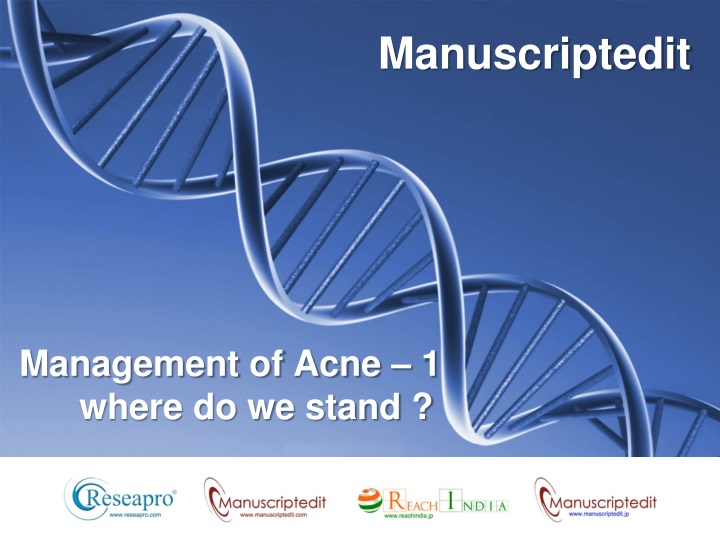 management of acne 1 where do we stand n.
