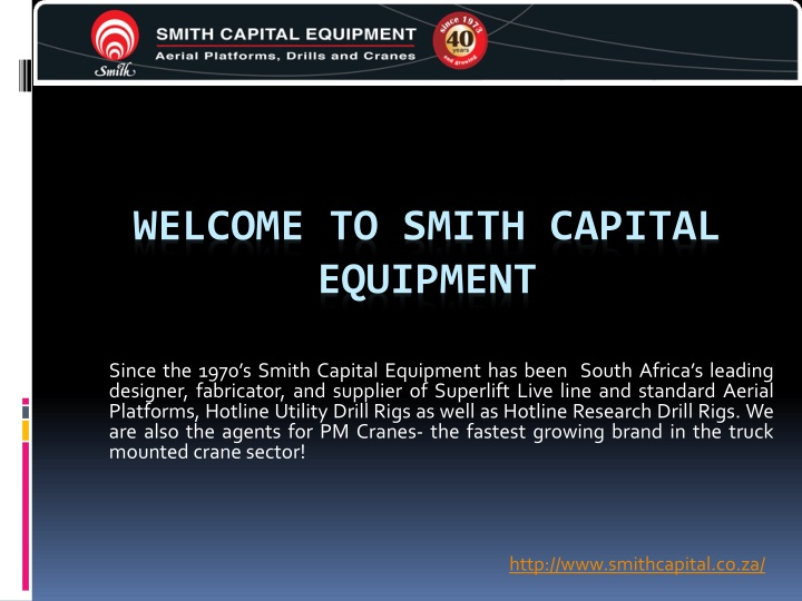 welcome to smith capital equipment n.