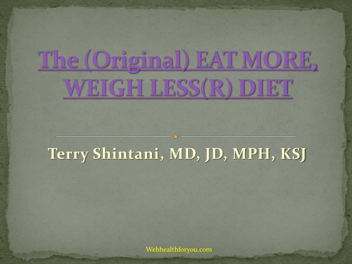 the original eat more weigh less r diet n.