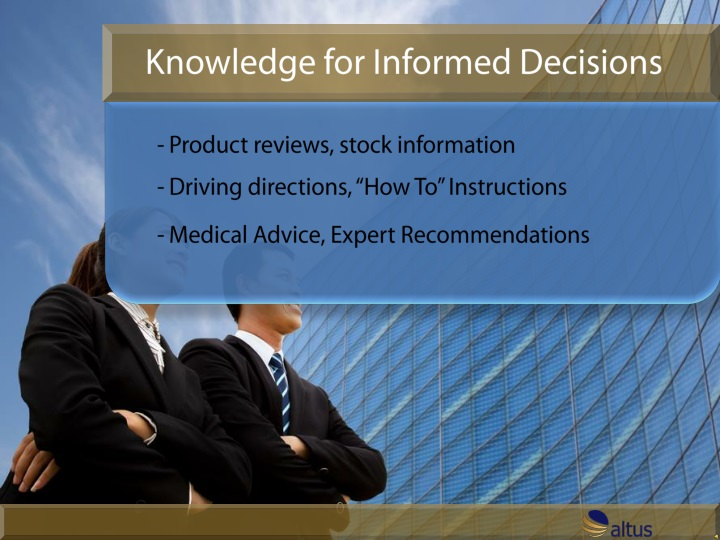 knowledge for informed decisions n.
