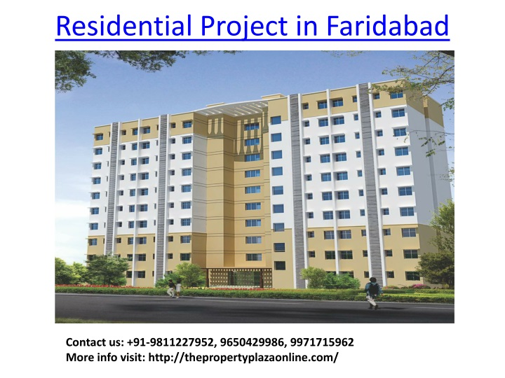 residential project in faridabad n.