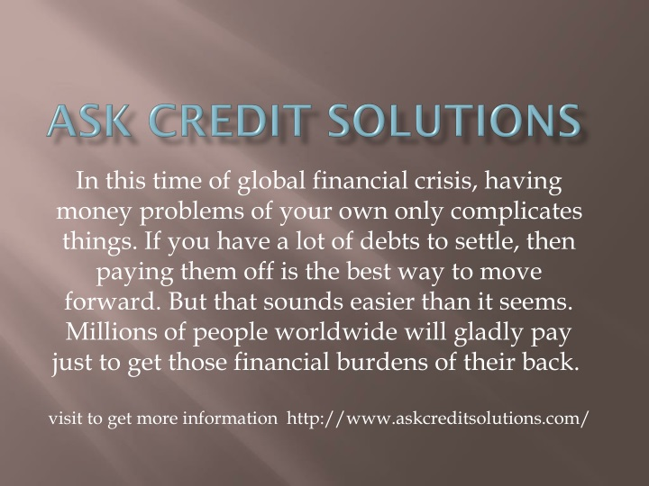 ask credit solutions n.