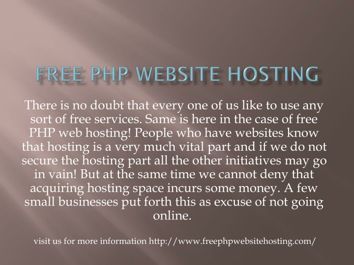 free php website hosting n.