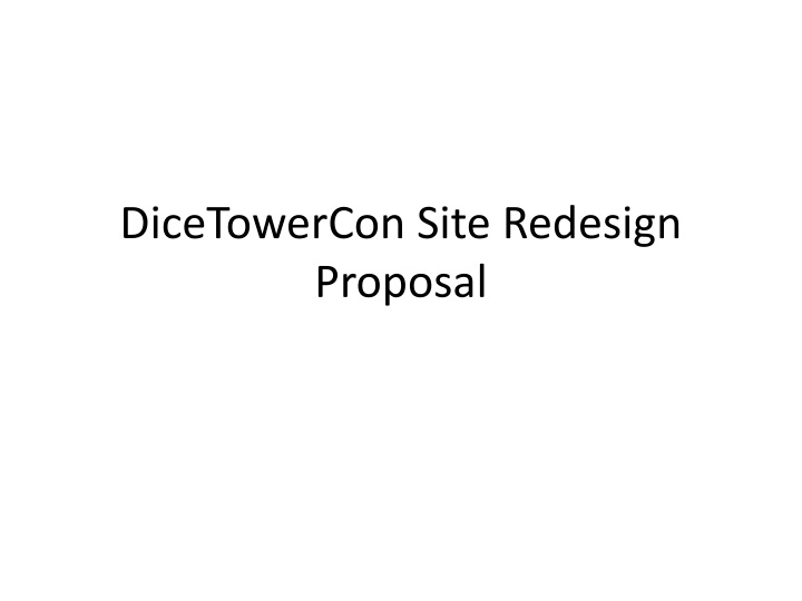 dicetowercon site redesign proposal n.