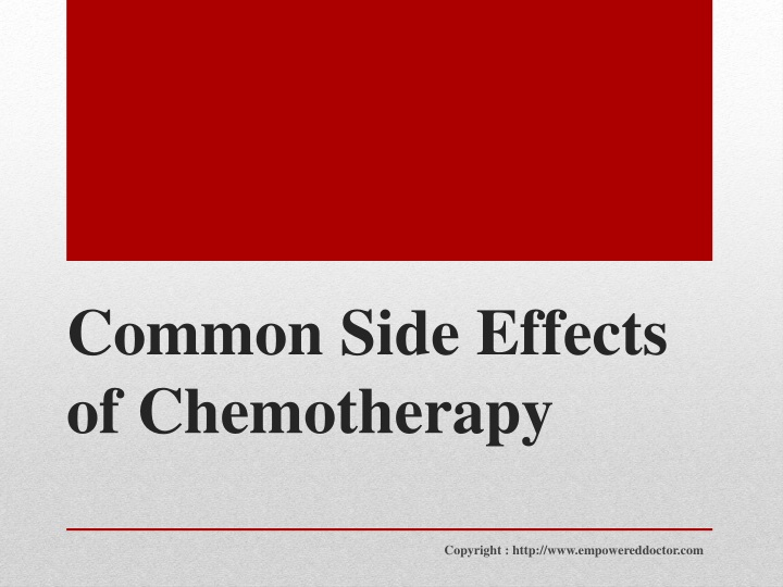 common side effects of chemotherapy n.