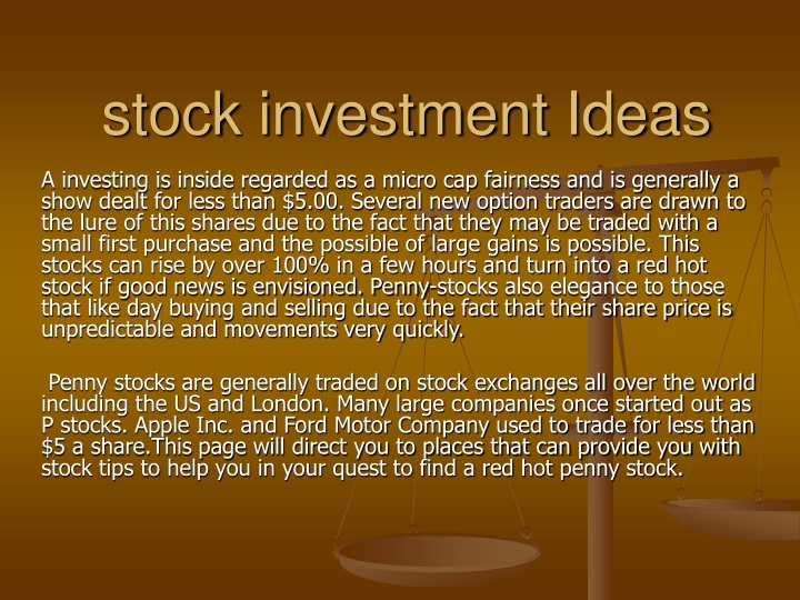 stock investment ideas n.