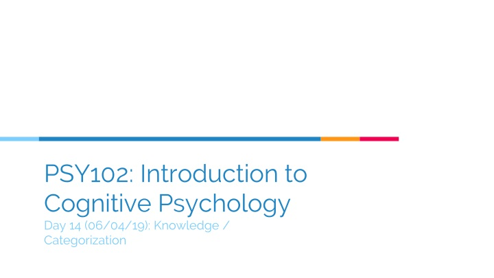 psy102 introduction to cognitive psychology day 14 06 04 19 knowledge categorization n.