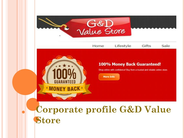 corporate profile g d value store n.