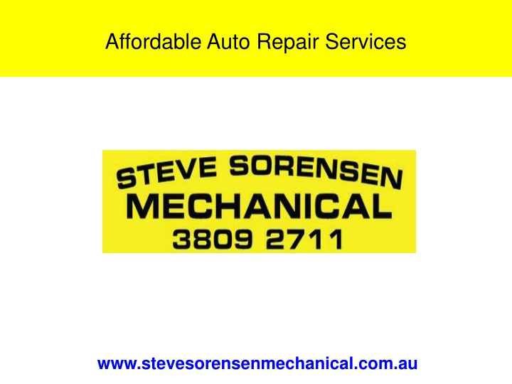 affordable auto repair services n.