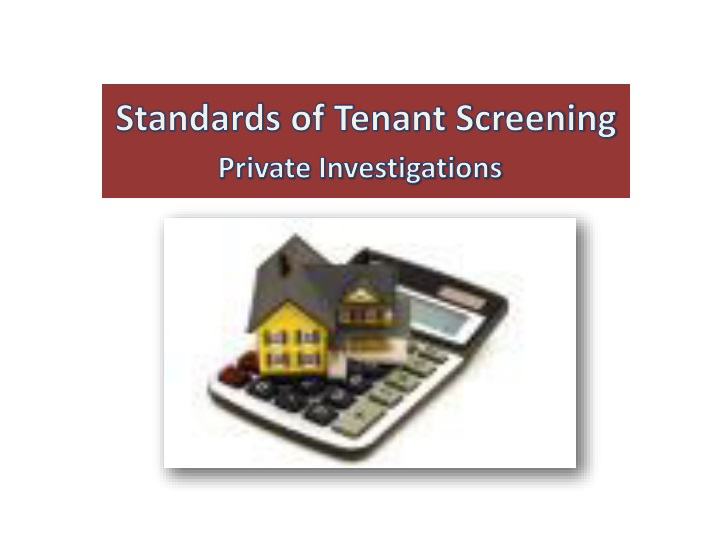 standards of tenant screening n.