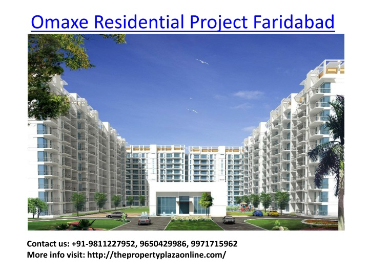 omaxe residential project faridabad n.