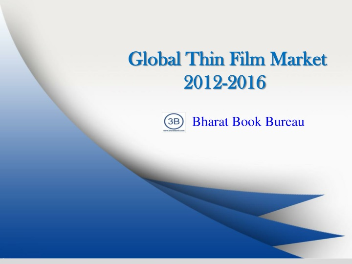 global thin film market 2012 2016 n.