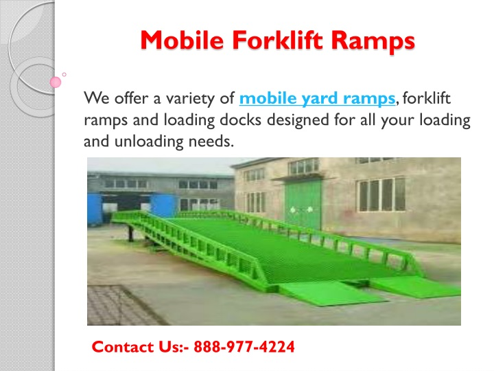 mobile forklift ramps n.
