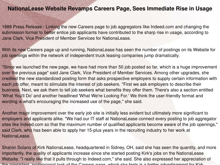 nationalease website revamps careers page sees n.