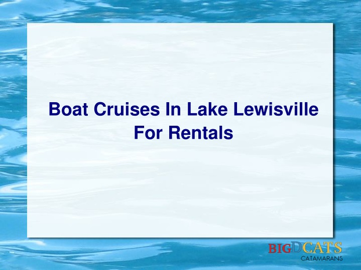 boat cruises in lake lewisville for rentals n.