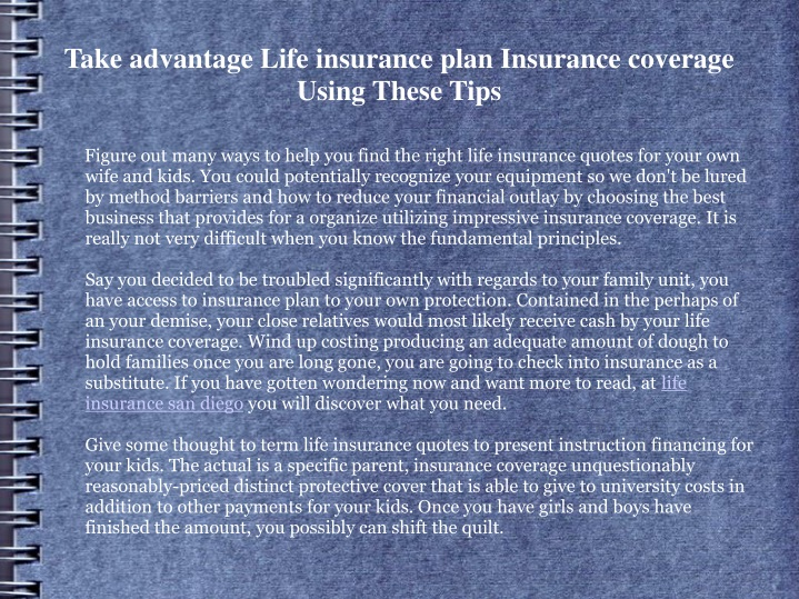 take advantage life insurance plan insurance coverage using these tips n.