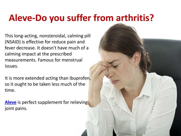 aleve do you suffer from arthritis n.