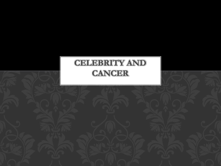 celebrity and cancer n.