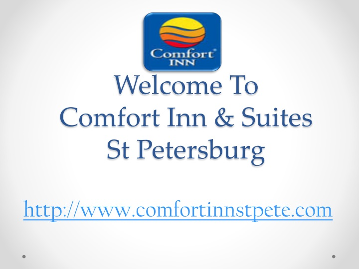welcome to comfort inn suites st petersburg n.