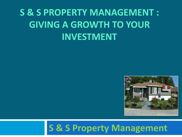 s s property management giving a growth to your investment n.