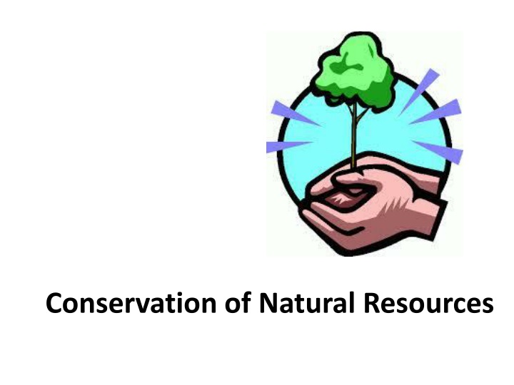 conservation of natural resources n.