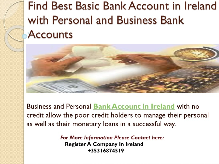 find best basic bank account in ireland with personal and business bank accounts n.