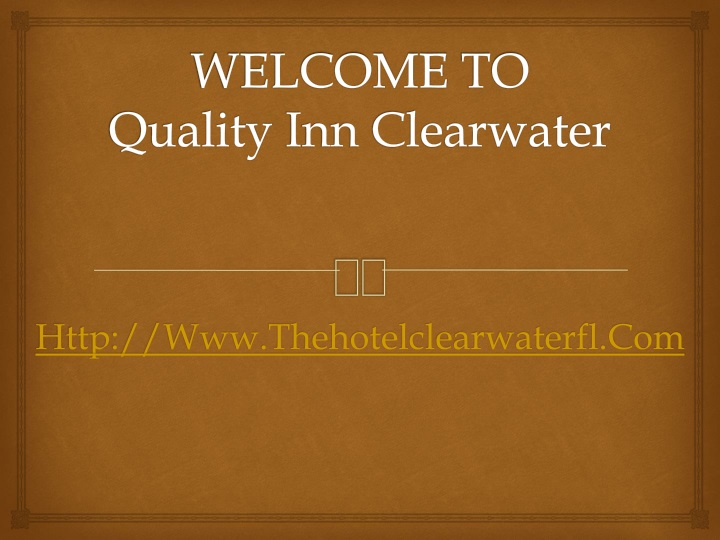 welcome to quality inn clearwater n.