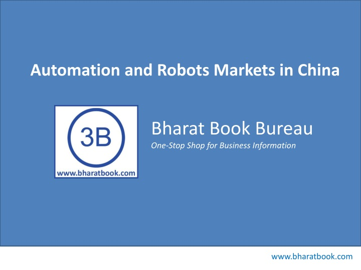 automation and robots markets in china n.