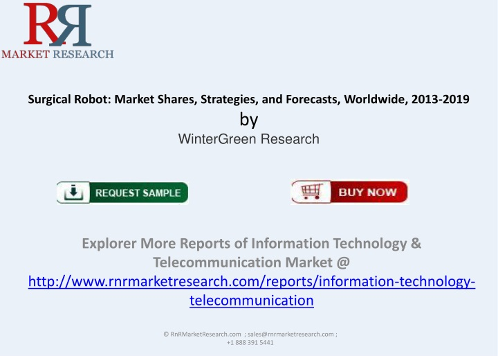surgical robot market shares strategies and forecasts worldwide 2013 2019 by wintergreen research n.
