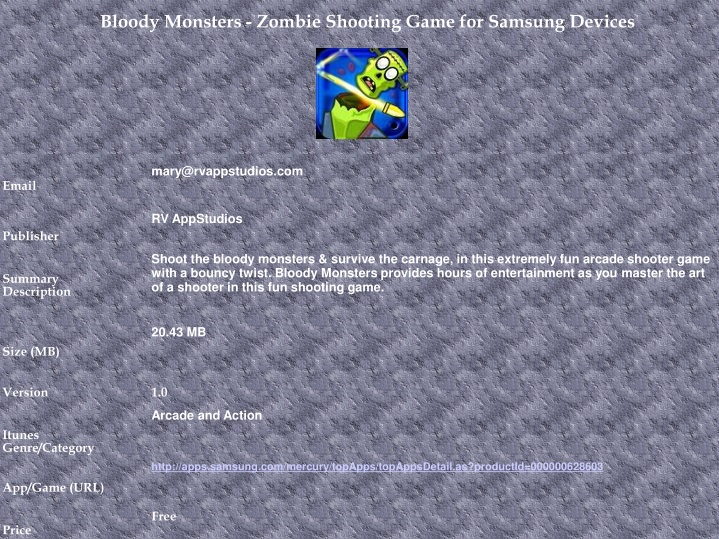 bloody monsters zombie shooting game for samsung n.