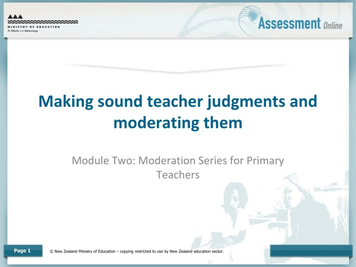 making sound teacher judgments and moderating them n.