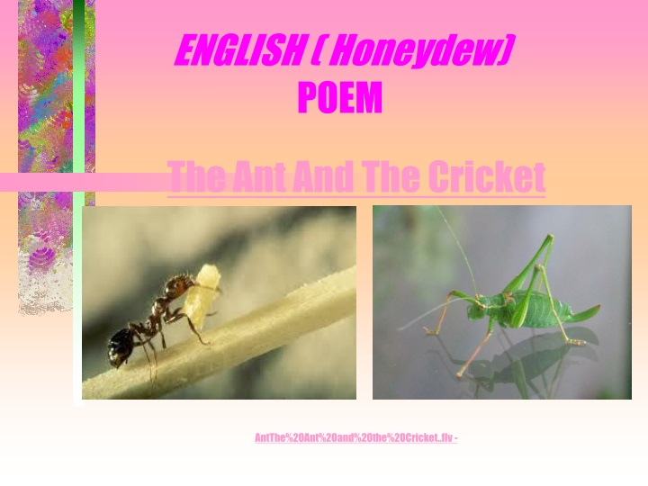 english honeydew poem n.
