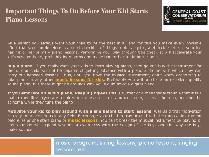 important things to do before your kid starts piano lessons n.