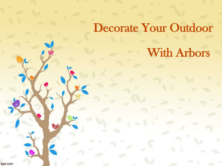 decorate your outdoor n.